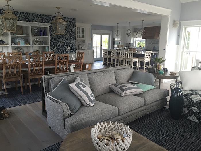 Suited To This Beachside Home We Love The Blues Greens And Grays Used Throughout It How About All That Stunning Trimwork On Interior